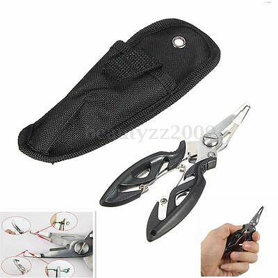 Stainless Fishing Pliers Scissors Line Cutter Remove Hook Tackle Tool