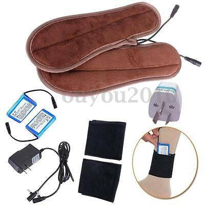 Outdoor Shoes Boots Electric Battery Powered Heated Insoles +Heater Socks Holder