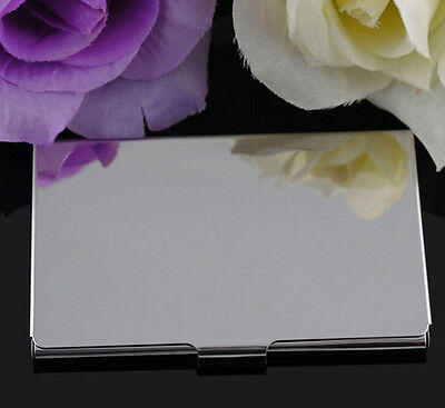 Fine Stainless Steel Pocket Name Credit ID Business Card Holder Box Metal Case x