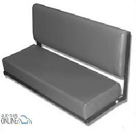 Land Rover Series 88 Swb-  2 Person Folding Rear Bench Seat  Grey-320737Lcs