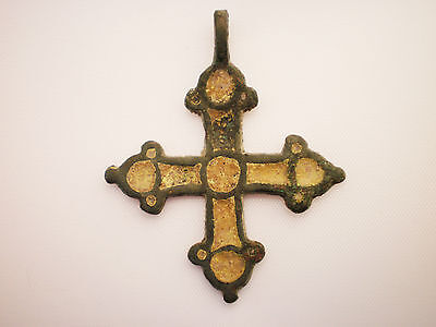 ANCIENT RARE Viking CROSS PENDANT Viking Kievan Rus ca 10-12 century AD##3