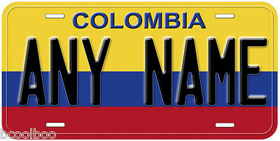 Colombia Flag Any Name Number Novelty Car License Plate