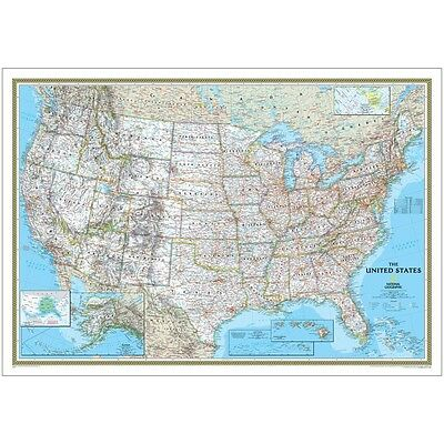 USA Classic Map - Poster Paper