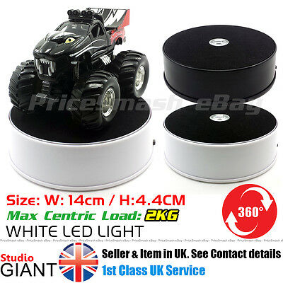 14cm SHOP DISPLAY ROTATING TURNTABLE 360 DEGREE BASE 3D LED STAND TURN TABLE UK