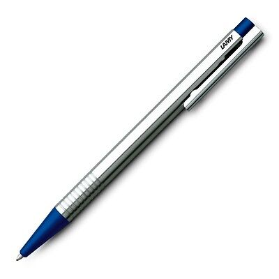 LAMY - LOGO Ballpoint Pen - BLUE & CHROME -  New In Box