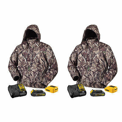 DeWALT DCHJ062 20-Volt True Timber HTC Camo Heated Large Jacket Kits, 2-Pack