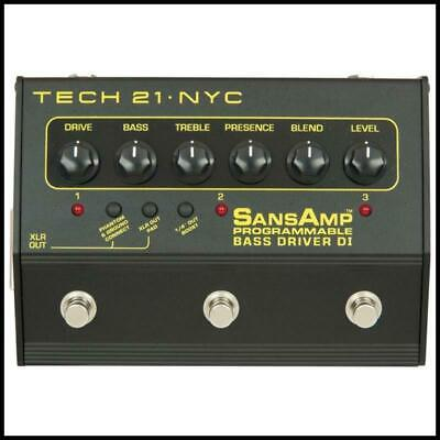 "Tech 21 SansAmp 3-Channel Programmable Bass Driver DI ""Leave your rig at Home"""