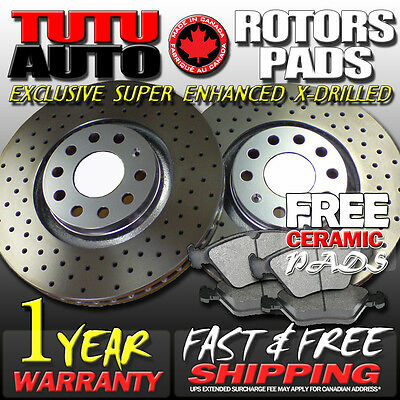 S0887 2006 2007 2008 2009 2010 2011 2012 2013 RAM 1500 Brake Rotors Ceramic Pads
