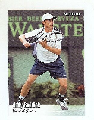 (100) ANDY RODDICK 2003 NetPro Tennis Card LOT