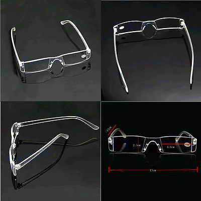Men Women 1.00-4.00 Diopter Reading Glasses Presbyopia Eyeglasses Clear Rimless