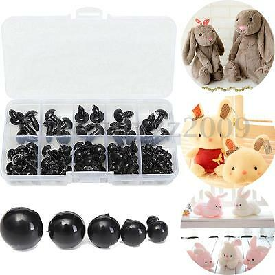 100pcs 6-12mm Black Plastic Safety Eyes For Teddy Bear Doll DIY Animal Crafts