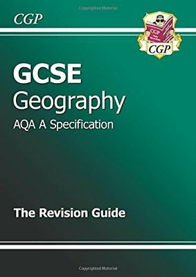 GCSE Geography AQA A Revision Guide, CGP Books Paperback Book The Cheap Fast
