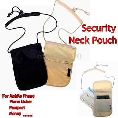 Travel Security Under Clothes Wallet Bag Money Card Passport Neck Pouch 4 Pocket