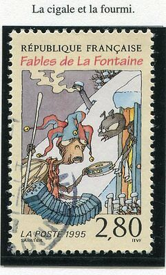 Stamp / Timbre France Oblitere N° 2958 Jean De Lafontaine