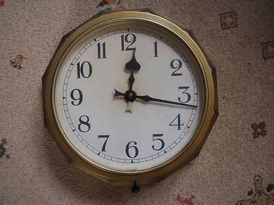Rare Art Deco Bakelite Synchronous Smiths Ltd Wall Railway/School Electric Clock