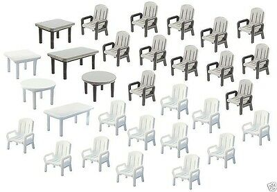 Faller  272441  24 Garden chairs and 6 Tables spur n 1/160 suberb detail