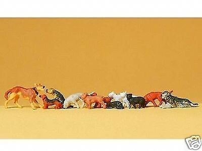 preiser 14165 dogs and  cats 1:87