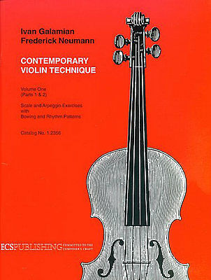 Contemporary Violin Technique, Volume 1 (Scales) by Ivan Galamian