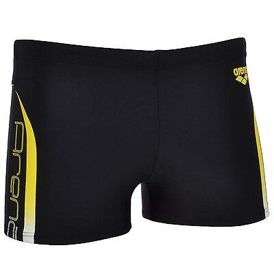 Arena Mens Flex Swimming Swim Aquashorts Training Boxer Trunks Shorts - Black