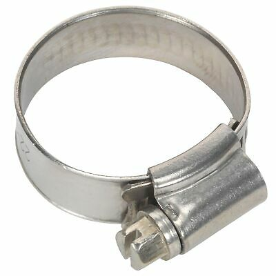 Sealey Race / Rally Pack of 10 Stainless Steel Hose Clips - 22-32mm