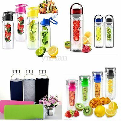Sports Fruit Infuser Water Bottle Health Cycling Drinking Juice Tea Cup BPA Free