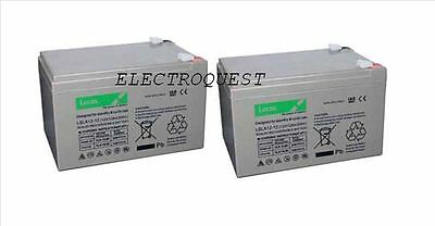 Pair of  Lucas 12v 14ah Battery for Mobility Scooter Uprated 12V 12Ah 12Ah
