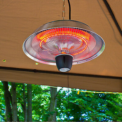 Electric Patio Heater Outdoor Infrared Hanging Deck Radiator Garden Parasol  Warm