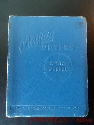 1950s Maytag Dryer Binder of Service Manual Vintage Original Newton Iowa BIG