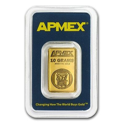 10 gram APMEX Gold Bar - Tamper Evident Packaging - SKU #63281