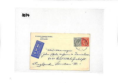 DD74 1934 Kenya Uganda London Cover Samwells-Covers