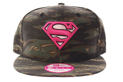 Cappello New Era 9FIFTY Supergirl Marvel Snapback camouflage Cap Miltary donna