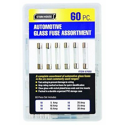 60 piece AGC glass fuse assortment chevy ford dodge oldsmobile Replacement Fuses