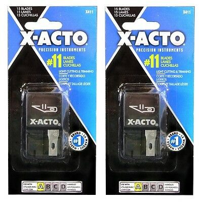 2 Packs - X-ACTO #11 Utility Knife Replacement Blades - 30 Total Blades