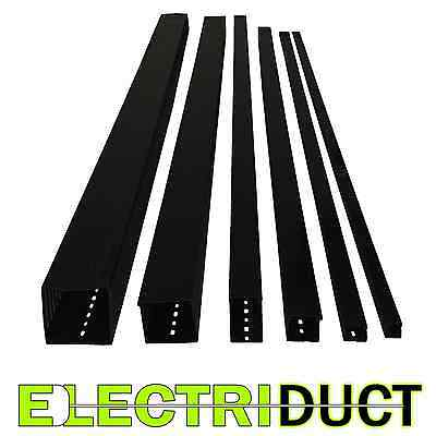 """2""""x2"""" Open Slot Wire Duct - 25 Sticks - Total Feet: 164FT - Black - Electriduct"""
