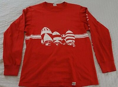 Vintage Red Hawaii Crazy Shirt Long Sleeve