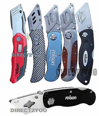 "Rolson 6"" Lock Back Utility Knife Folding Holder -NO stanley blades supplied"