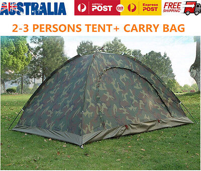 Portable Outdoor Camping 2 Person Family Tent Waterproof Camouflage Hiking Tents