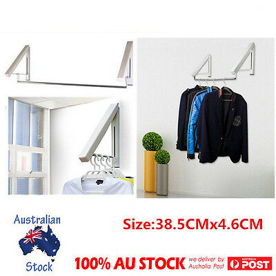 Wall Mounted Clothes Airer Instahanger Laundry Drying Rack Steel Tube Line Dryer
