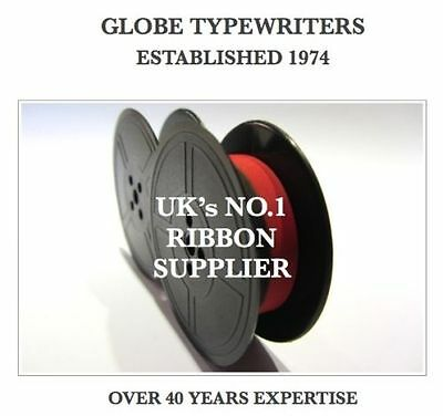 1 x 'IMPERIAL MARITSA' BLACK/RED TYPEWRITER RIBBON TWIN SPOOL-AIR SEALED+EYELETS