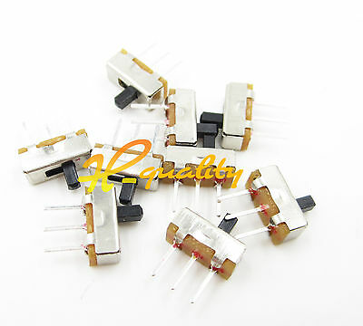 20Pcs SS12D00G3 2 Position SPDT 1P2T 3 Pin PCB Panel Mini Vertical Slide Switch