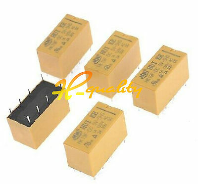 DC 5V Coil DPDT 8 Pin 2NO 2NC Mini Power Relays PCB Type HK19F