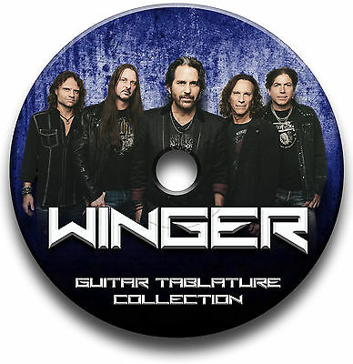 Winger Glam Heavy Rock Guitar Tabs Tablature Song Book Software Cd