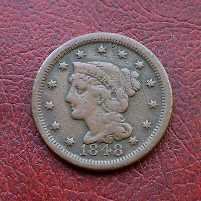 USA 1848 copper large cent