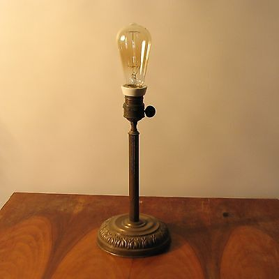 Antique Vintage Retro Old Brass Table Light Lamp