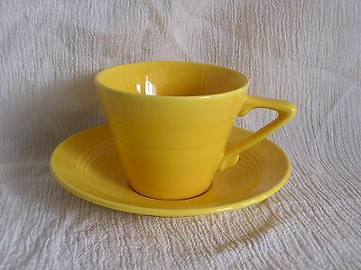 Vintage Art Deco Retro Modern Mod Cool Yellow Tea Coffee Cup & Saucer Set