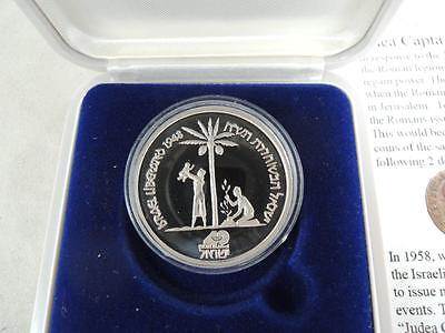 ISRAEL 1988 JUDEA CAPTA / LIBERATION III STATE MEDAL 30mm 1/2oz PURE PLATINUM