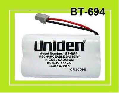 New UNIDEN Genuine BT-694  DC 2.4V Rechargeable Battery Nickel Metal Hydride
