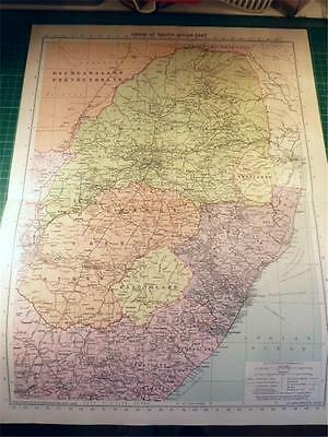 Map From Philip's Atlas 1931 - Union Of South Africa - East.....123-24/31
