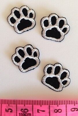 PUPPY DOG (LOT OF 4)CAT ANIMAL PAW PRINT🐾 Sew/ Iron DIY Patch Motif Pet Clothes