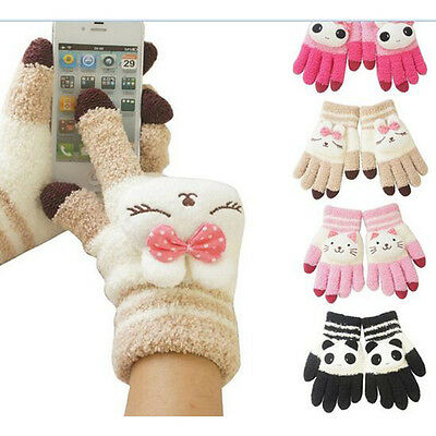 New Baby Boys winter keep warm touch gloves cartoon Animal touch screen gloves